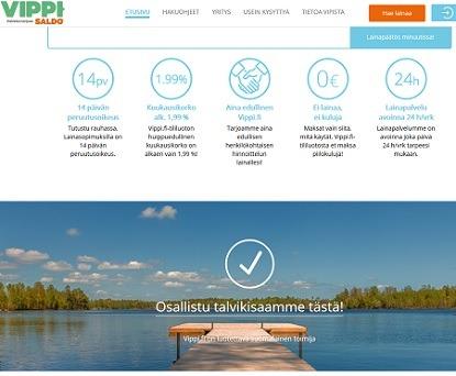 Vippi.fi lainaa vastuullisesti ja rahaa ei tarvitse odottaa kuin pari minuuttia.