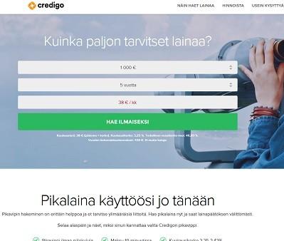 Credigolta saat lainaa heti netistä 10 minuutissa.