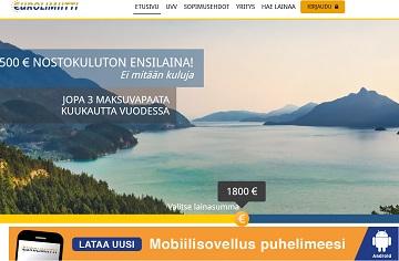 Eurolimiitin luottoraja jopa 3000€, josta mahdollisuus tehdä ilmainen 500 euron suuruinen ensinosto.