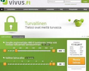 Vivus.fi tarjoaa nyt uusille asiakkailleen korkeintaan 400 euron suuruisen lainan korottomana. Maksuaikaa tälle lainalle saat jopa 30 päivää