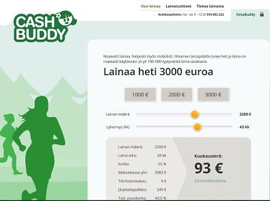 Kulutusluottoa tai lainaa heti jopa 3000 euroon saakka.